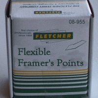 Fletcher Flexible Framers Points bulk pack 10,000 per box FTC08-965
